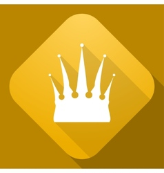 Icon of crown with a long shadow vector