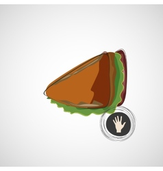 Tasty and juicy sandwich on a light design vector