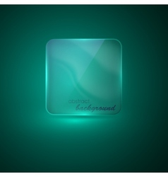 Abstract background with transparent glass banner vector