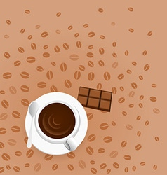 Coffee with chocolate vector