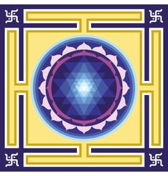 Shri yantra vector