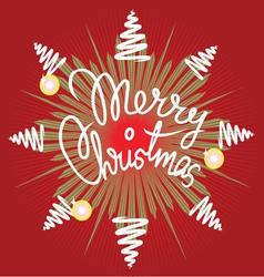 Merry christmas decor vector