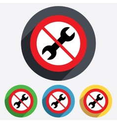 Do not repair tool sign icon service symbol vector