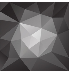 Abstract black and white low poly background vector