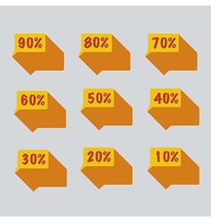 Sale percent sticker price tag vector
