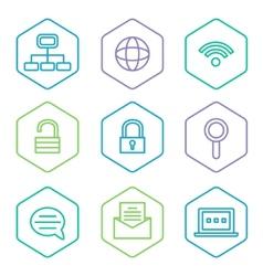Data analytics icons set big data concept icons vector