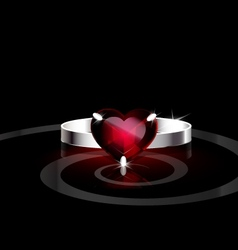 Red heart- ring vector