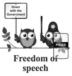 Freedom of speech vector