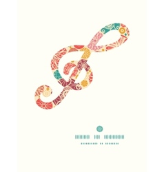 Abstract decorative circles g clef musical vector