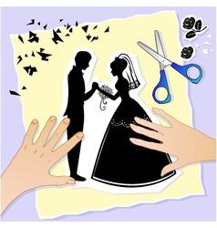 Wedding scene vector