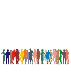 Silhouette people on a white background vector