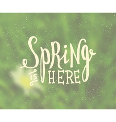 Blurred background typographic spring design vector