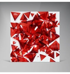 Squares abstract background red vector