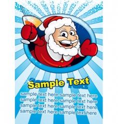 Santa card vector