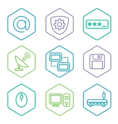 Data analytics icons set big data concept icons vector