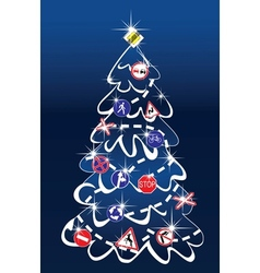 Traffic christmas tree vector