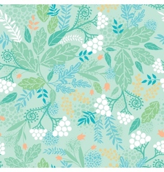 Spring berries seamless pattern background vector