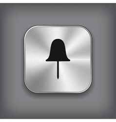 Paper push pin icon - metal app button vector