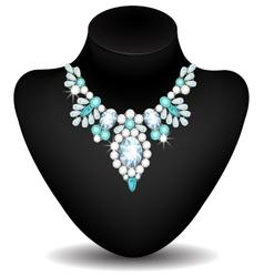 Necklace of diamonds vector