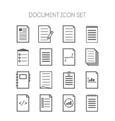 Set of simple document icons for web design sites vector