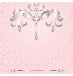 Background with jewelry vector