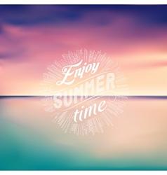 Sea sunset seascape background enjoy summer time vector