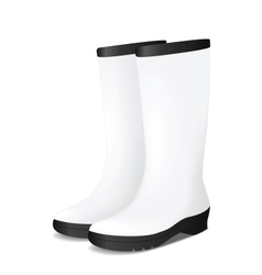 White blank safety rubber boots vector