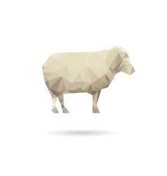 Sheep isolated on a white backgrounds vector