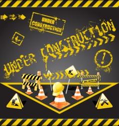 Under construction warning vector