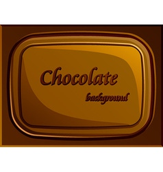 Stylish chocolate bar vector