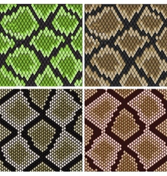 Seamless snake skin patterns vector