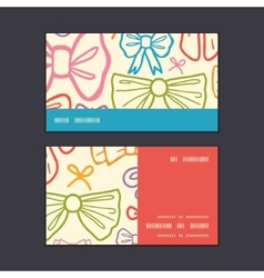 Colorful bows horizontal stripe frame pattern vector