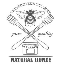 Natural honey pure vector