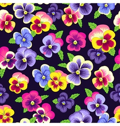 Pattern pansy vector