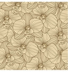 Orchid seamless pattern vector