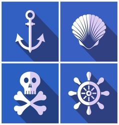 Pirates icons vector