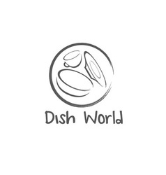 Dish world concept design template vector