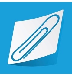 Paperclip sticker vector