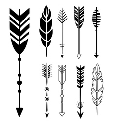 Set of cute hipster arrows vector