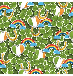 Seamless irish pattern vector