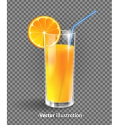 A glass of orange juice vector