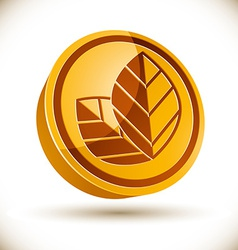 Autumn leaves icon vector