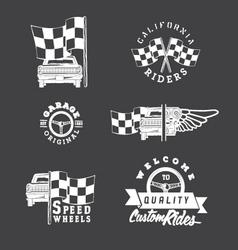 Set of vintage auto service labels vector