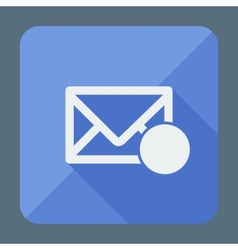 Mail icon envelope with place for sign flat vector
