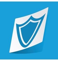 Shield sticker vector
