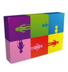Family puzzle logo vector