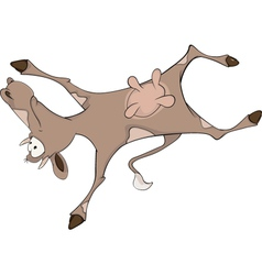 Happy cow cartoon vector