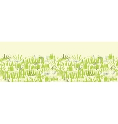 Painting of green grass horizontal seamless vector