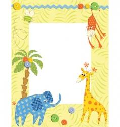Baby frame or card vector