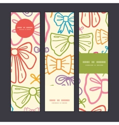 Colorful bows vertical banners set pattern vector